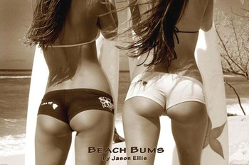 BEACH BUMS - by jason ellis Plakater, Poster