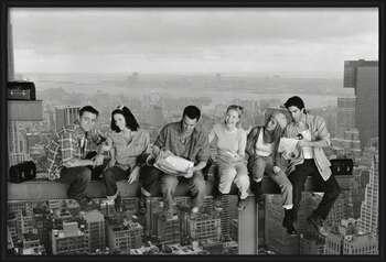 Friends - Lunch On A Skyscraper Indrammet plakat