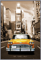 New York taxi no. 1 Indrammet plakat