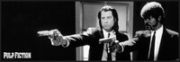Pulp Fiction - b&w guns Indrammet plakat