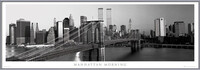 Manhattan - morning b&w Indrammet plakat