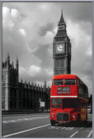 London red bus Indrammet plakat