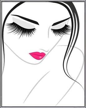 Lash extension beauty icon Indrammet plakat