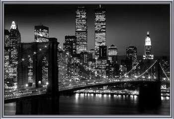 Manhattan - Night Indrammet plakat
