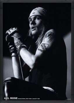 Indrammet plakat Guns N Roses (Axl Rose) - Middletown, New York, August 1988