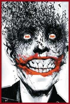 Indrammet plakat BATMAN Comic - Joker Bats