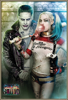 Indrammet plakat Suicide Squad - Joker and Harley Quinn