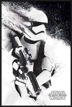 Indrammet plakat Star Wars Episode VII: The Force Awakens - Stormtrooper Paint