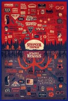 Indrammet plakat Stranger Things - The Upside Down