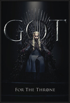 Indrammet plakat Game Of Thrones - Daenerys For The Throne