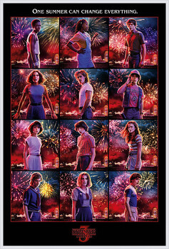 Indrammet plakat Stranger Things - Character Montage