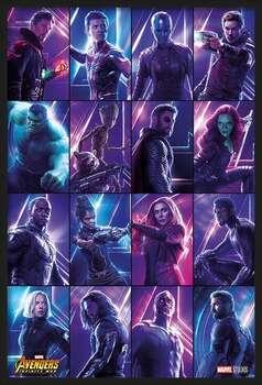 Indrammet plakat Avengers: Infinity War - Heroes