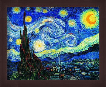 Indrammet plakat The Starry Night, June 1889