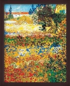 Indrammet plakat Flowering garden, 1898