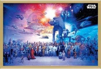Indrammet plakat Star Wars - Universe