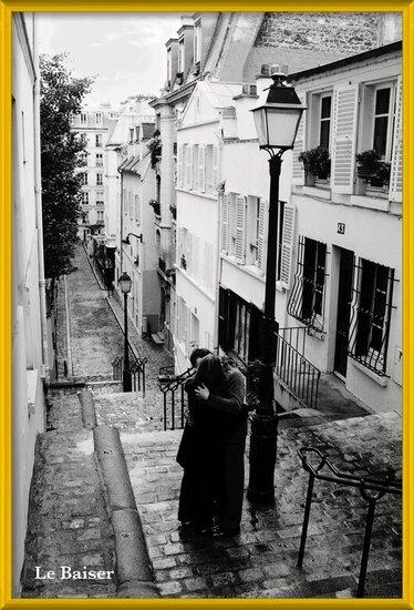 Paris - le baiser Plakat
