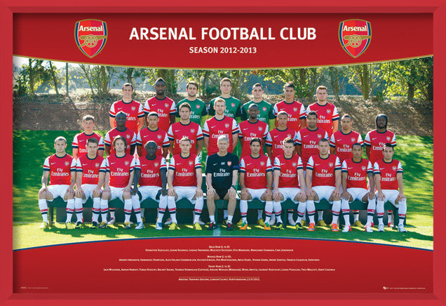 Arsenal - Team photo 12/13 Plakat