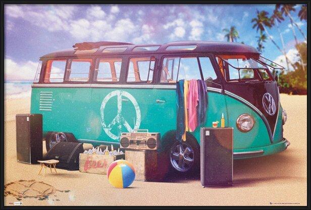 VW Volkswagen Camper - party Plakat