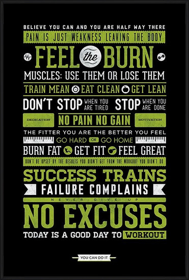 Gym - Motivational Plakat