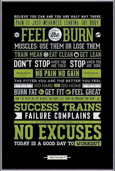Gym - Motivational Plakat