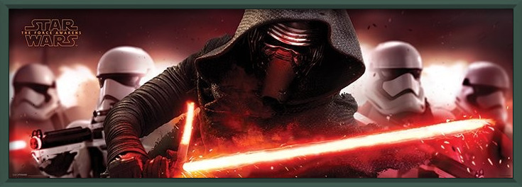 Star Wars Episode VII: The Force Awakens - Kylo Ren & Stormtroopers Plakat