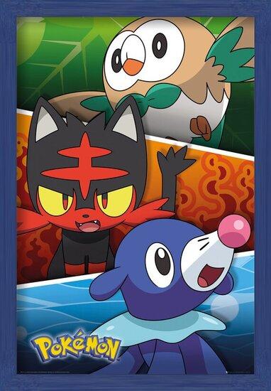 Pokemon - Alola Partners Plakat