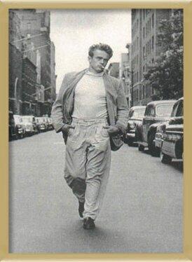 James Dean - Walking Plakat