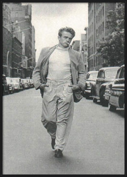 James Dean - Walking Plakat