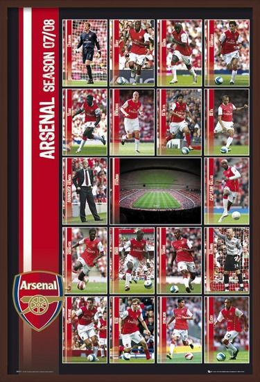 Arsenal - squad profiles 07/08 Plakat