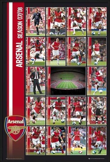 Arsenal - squad profiles 07/08 Plakat