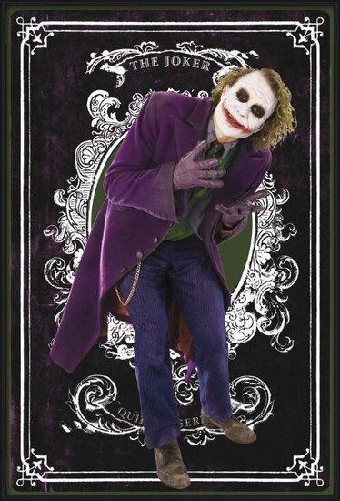 BATMAN - joker card Plakat