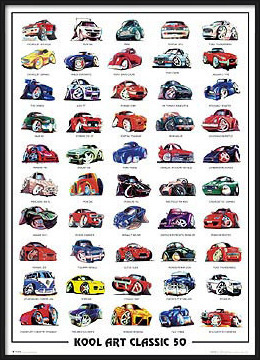 Koolart classic 50 - autíčka Plakat