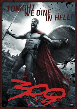 300 - Leonidas 3D 3D Plakat