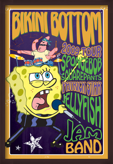 SPONGEBOB - rock Plakat