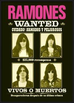Ramones - wanted Plakat
